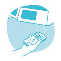 Scanne deinen QR-Code am Zugangsterminal ab