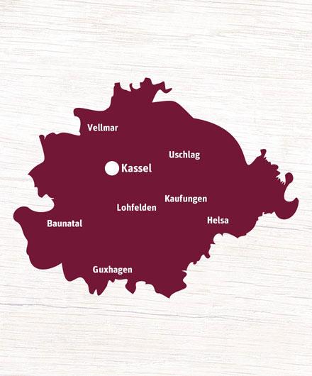 Liefergebiet Kassel