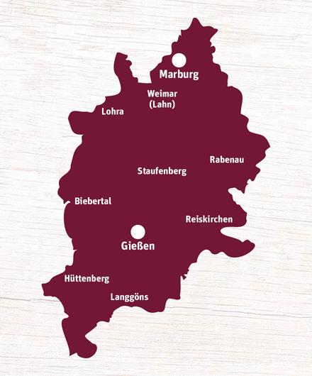 Liefergebiet Marburg/ Gießen