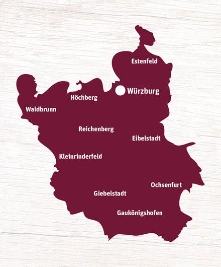 Liefergebiet Würzburg