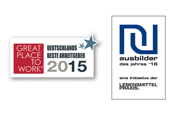 Logo Bester Arbeitgeber Deutschlands 2015 und Ausbilder des Jahres 2016