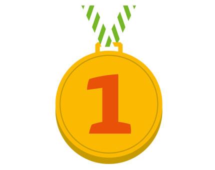 Medaille mit einer eins