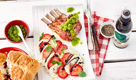 Erdbeeren Mozzarella Salat