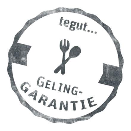 Gelinggarantie-Siegel der tegut Kochwerkstatt