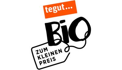 Logo tegut Bio zum kleinen Preis