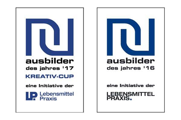 zwei Logos Ausbilder des Jahres2017 und 2016