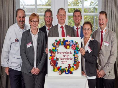 Siegerehrung beste Wursttheke 2017 Karlstadt