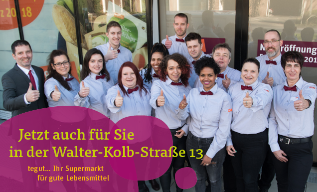 Mitarbeiter des tegut... Marktes Frankfurt Walter-Kolb-Straße