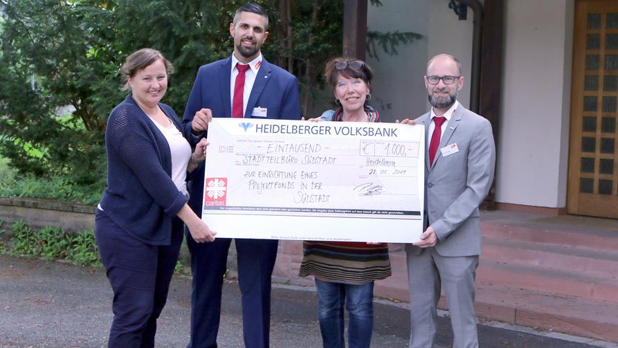Spendenübergabe für Heidelberger Südstadt-Projekt