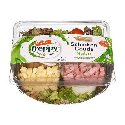 Freppy Schinken Gouda Salat
