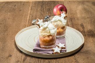 Apfel Vanilleeis