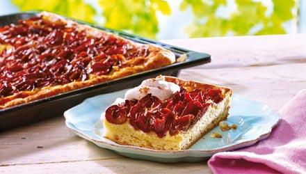 Blechkuchen Zwetschgenkuchen mit Marzipan