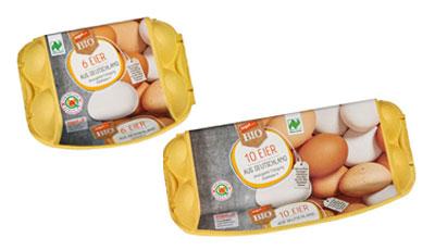6er Pckung und 10er Packung tegut Bio Eier