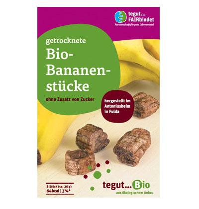 eine Packung Bio-Bananenstücke