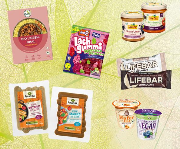 verschiedene vegane Produkte