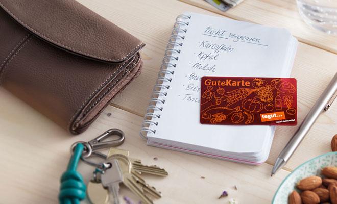Gute Karte Einkaufen Mandeln Geldbeutel Schlüssel Einkaufsliste Alltag Situation