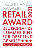 Fruchthandel Magazin, Retail Award 2021 - Deutschlands Nummer Eins für Obst und Gemüse - Kategorie Bio-Angebote