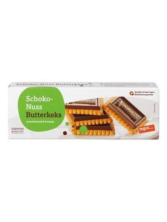 Darstellung von Schoko-Nuss Butterkeks