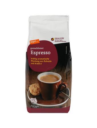 Darstellung von gemahlener Espresso