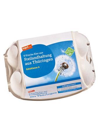 Darstellung von Freilandhaltungs-Eier aus Thüringen, 6 Stück