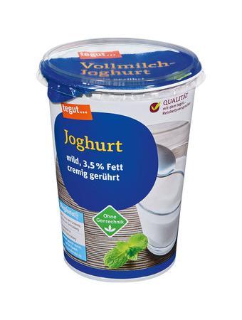 Darstellung von Joghurt mild 3,5 % Fett 500g