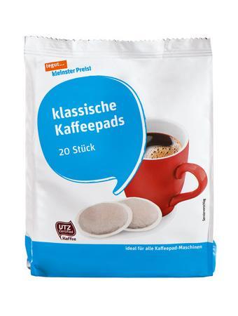 Darstellung von klassische Kaffeepads