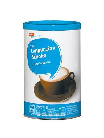 Darstellung von Cappuccino Schoko