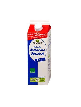 Darstellung von Alnatura Bio-Frische fettarme Milch