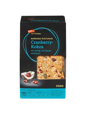 Darstellung von exotisches Knäckebrot Cranberry-Kokos