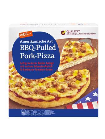 Darstellung von Amerikanische Art BBQ-Pulled Pork-Pizza