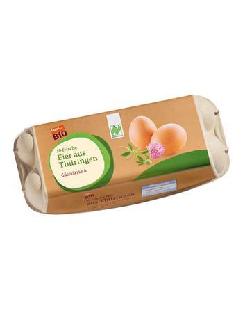 Darstellung von Bio Eier aus Thüringen, 10 Stück