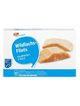 Darstellung von Wildlachs-Filets