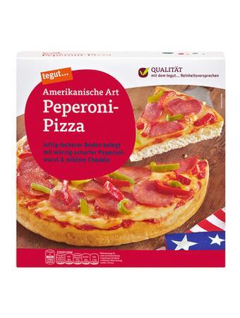 Darstellung von Amerikanische Art Peperoni-Pizza