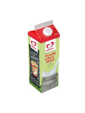 Darstellung von HERZGUT Frische fettarme Milch 1,5% Fett