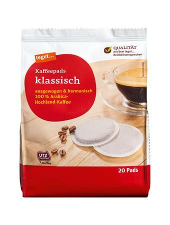 Darstellung von Kaffeepads klassisch