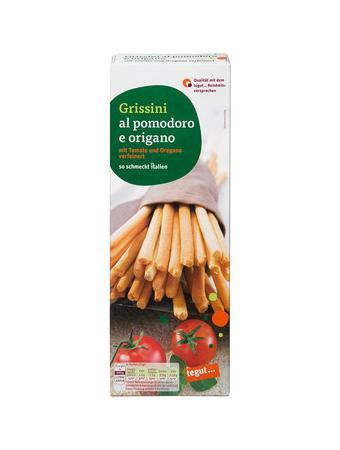Darstellung von Grissini al pomodoro e origano