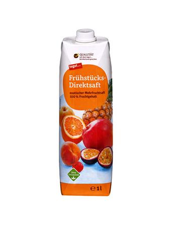 Darstellung von Frühstücks-Direktsaft