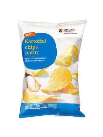 Darstellung von Kartoffelchips natur