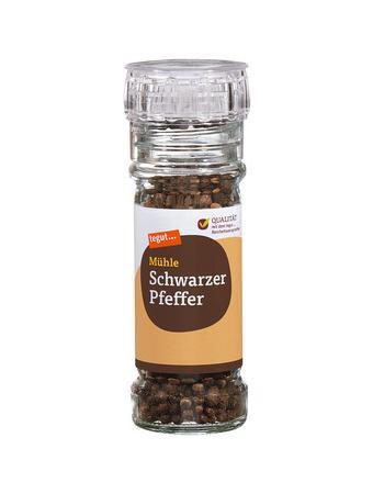 Darstellung von Schwarzer Pfeffer, Mühle