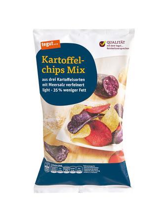 Darstellung von Kartoffelchips Mix