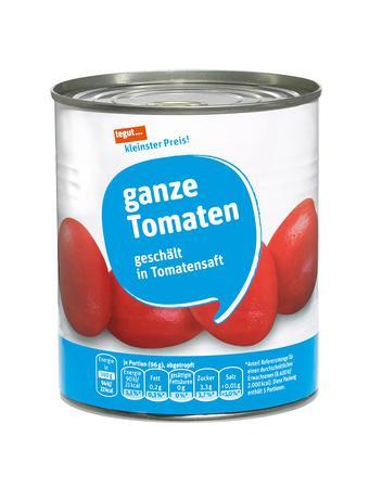 Darstellung von ganze Tomaten, geschält