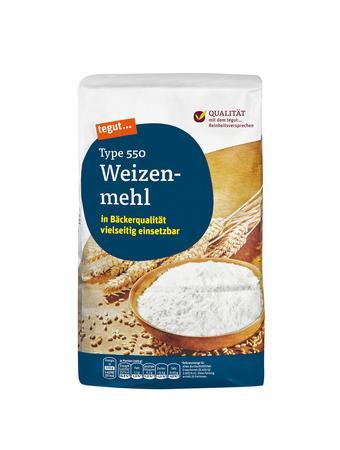 Darstellung von Weizenmehl Type 550
