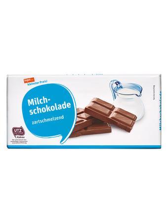 Darstellung von Milchschokolade