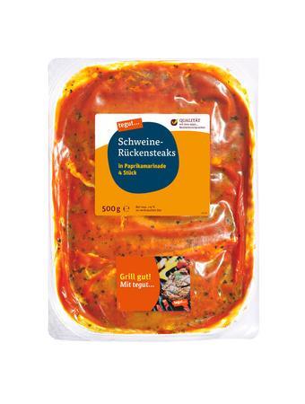 Darstellung von Schweine-Rückensteaks Paprika