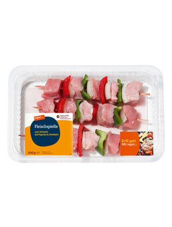 Darstellung von Fleischspieße