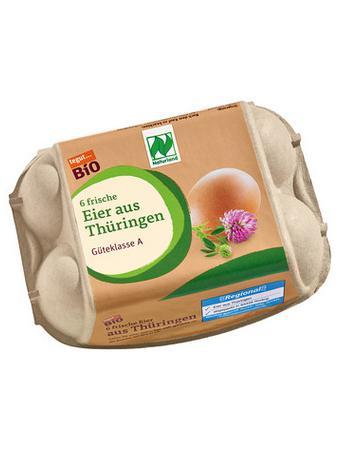 Darstellung von Bio Eier aus Thüringen, 6 Stück