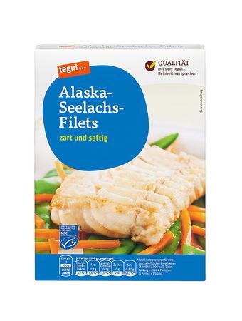 Darstellung von Alaska-Seelachs-Filets