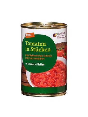 Darstellung von Tomaten in Stücken