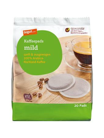 Darstellung von Kaffeepads mild