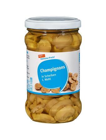 Darstellung von Champignons in Scheiben I. Wahl